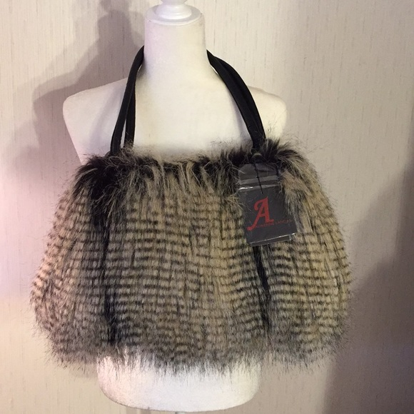 033c6213ed Fun Faux Fur Handbag - NWT